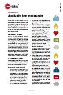 Informationsblad brandskydd