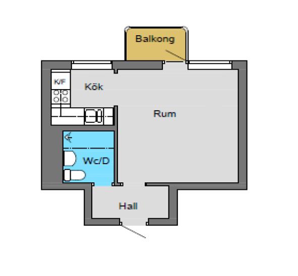 Exempelbild ett rum med kök